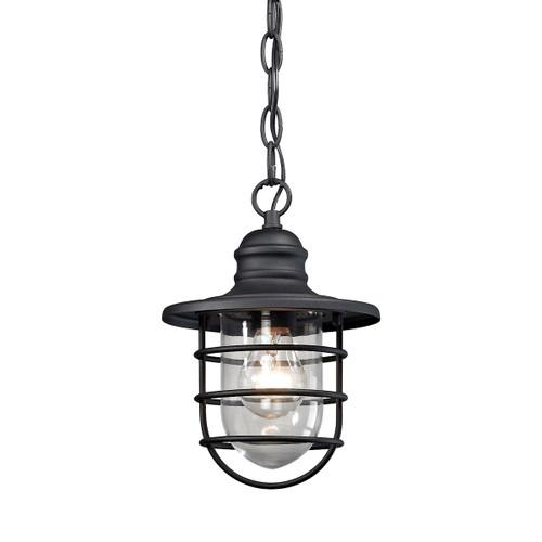 ELK Lighting 45213/1 Vandon 1-Light Outdoor Pendant in Textured Matte Black