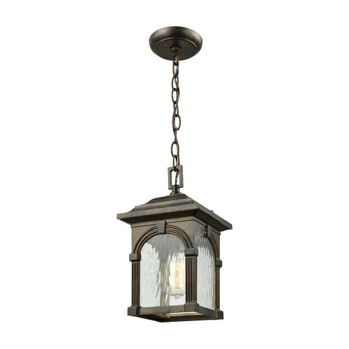 ELK Lighting 45303/1 Stradelli 1-Light Outdoor Pendant in Hazelnut Bronze