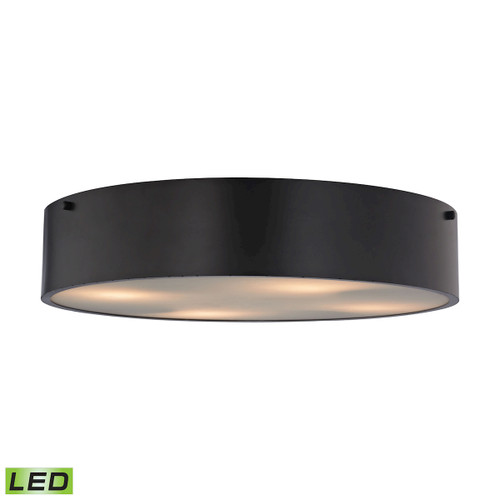 ELK Lighting 45321/4-LED Clayton 4-Light Flush Mount in Oiled Bronze with Black Shade - Includes LED Bulbs