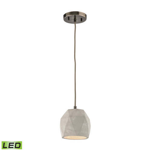 ELK Lighting 45330/1-LED Urban Form 1-Light Mini Pendant in Black Nickel with Natural Concrete Shade - Includes LED Bulb