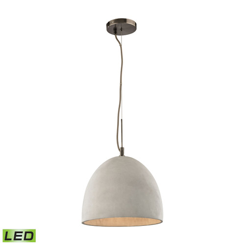 ELK Lighting 45334/1-LED Urban Form 1-Light Mini Pendant in Black Nickel with Natural Concrete Shade - Includes LED Bulb