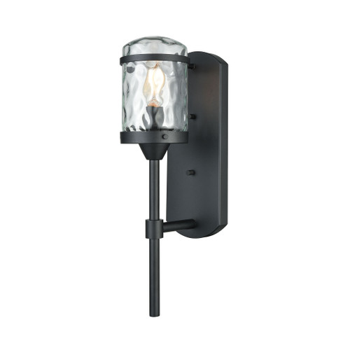 ELK Lighting 45400/1 Torch 1-Light Outdoor Wall Lamp in Charcoal Black