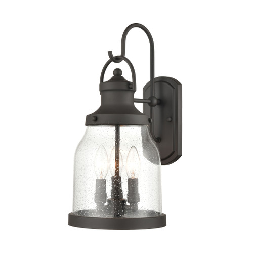 ELK Lighting 45421/3 Renford 3-Light Outdoor Sconce in Architectural Bronze with Seedy Glass