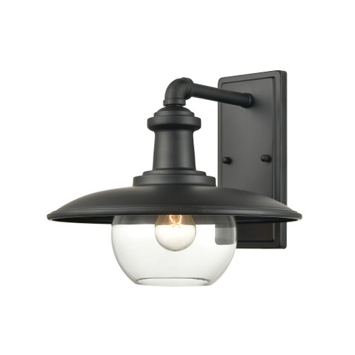 ELK Lighting 45431/1 Jackson 1-Light Outdoor Sconce in Matte Black with Clear Glass