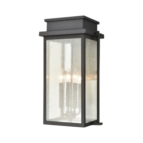 ELK Lighting 45442/4 Braddock 4-Light Outdoor Sconce in Architectural Bronze with Seedy Glass Enclosure