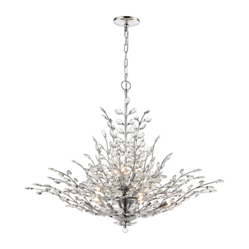 ELK Lighting 45464/12 Crystique 12-Light Chandelier in Polished Chrome with Clear Crystal