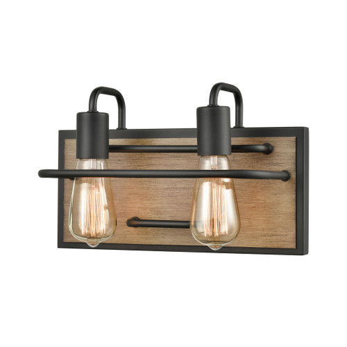 ELK Lighting 45484/2 Copley 2-Light Vanity Light in Matte Black and Aspen