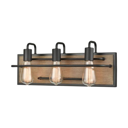 ELK Lighting 45485/3 Copley 3-Light Vanity Light in Matte Black and Aspen