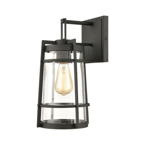 ELK Lighting 45491/1 Crofton 1-Light Outdoor Sconce in Charcoal with Clear Glass