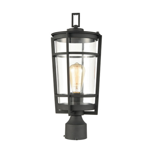 ELK Lighting 45494/1 Crofton 1-Light Outdoor Post Mount in Charcoal with Clear Glass