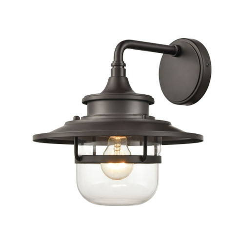 ELK Lighting 46071/1 Renninger 1-Light Outdoor Sconce in Oil Rubbed Bronze with Clear Glass
