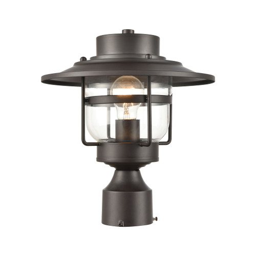 ELK Lighting 46073/1 Renninger 1-Light Outdoor Post Mount in Oil Rubbed Bronze with Clear Glass