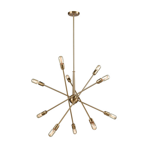 ELK Lighting 46241/10 Delphine 10-Light Chandelier in Satin Brass