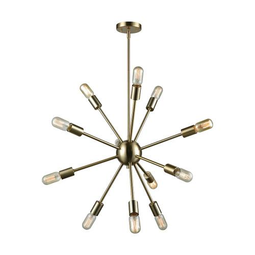 ELK Lighting 46244/12 Delphine 12-Light Chandelier in Satin Brass