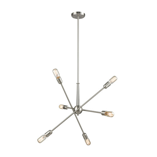 ELK Lighting 46260/6 Delphine 6-Light Chandelier in Satin Nickel