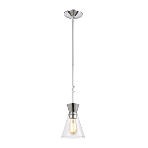 ELK Lighting 46453/1 Modley 1-Light Mini Pendant in Polished Chrome with Clear Glass