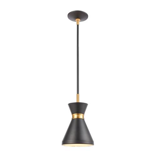 ELK Lighting 46503/1 Modley 1-Light Mini Pendant in Matte Black with Metal