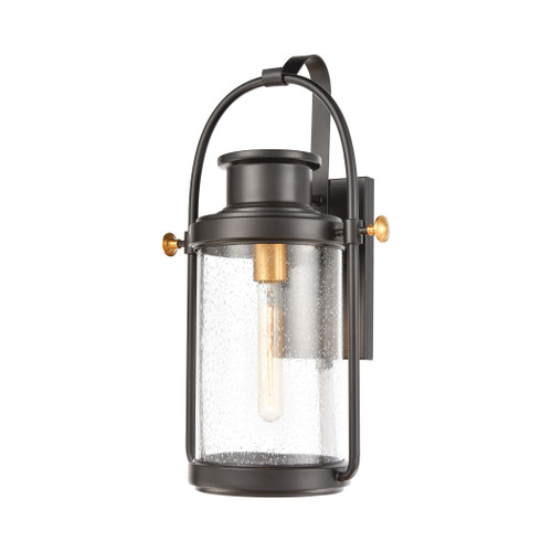 ELK Lighting 46671/1 Wexford 1-Light Sconce in Matte Black with Seedy Glass