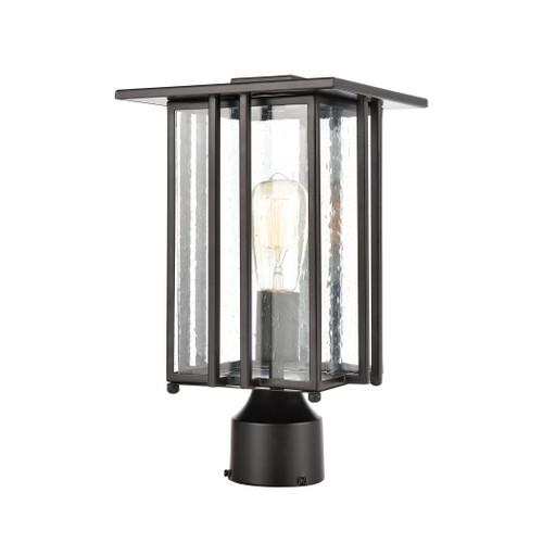 ELK Lighting 46694/1 Radnor 1-Light Post Mount in Matte Black with Seedy Glass
