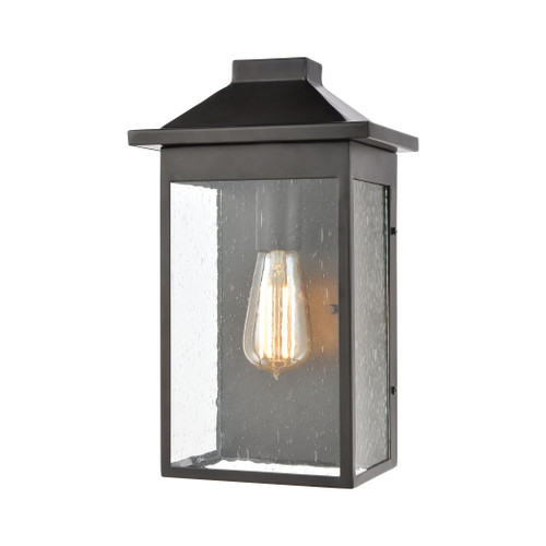 ELK Lighting 46701/1 Lamplighter 1-Light Sconce in Matte Black with Seedy Glass