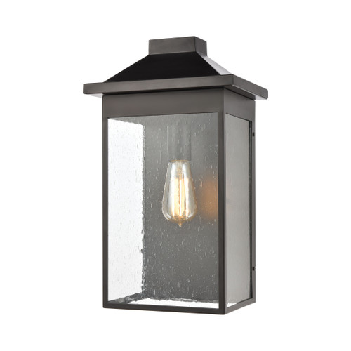 ELK Lighting 46702/1 Lamplighter 1-Light Sconce in Matte Black with Seedy Glass