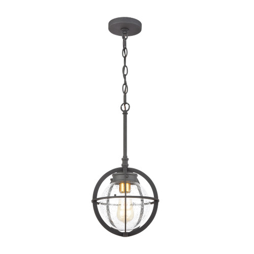ELK Lighting 46733/1 Davenport 1-Light Hanging in Charcoal with Seedy Glass