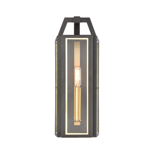 ELK Lighting 46740/1 Portico 1-Light Sconce in Charcoal with Clear Glass