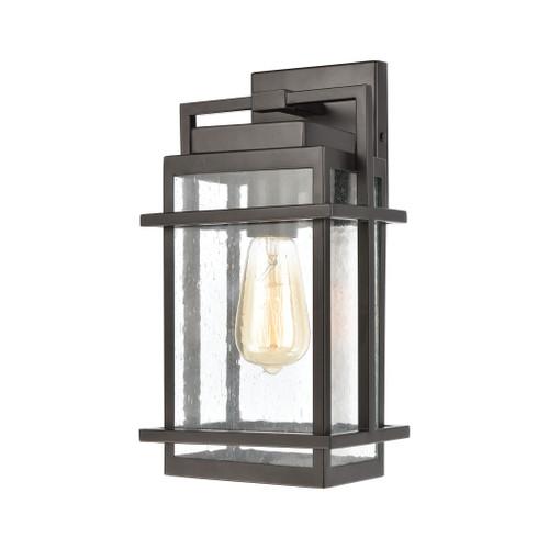 ELK Lighting 46760/1 Breckenridge 1-Light Sconce in Matte Black with Seedy Glass