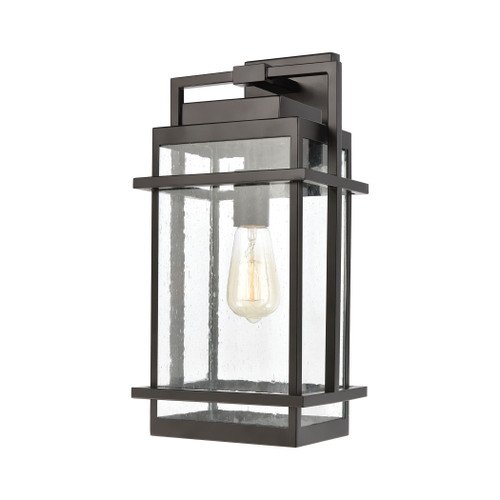 ELK Lighting 46761/1 Breckenridge 1-Light Sconce in Matte Black with Seedy Glass