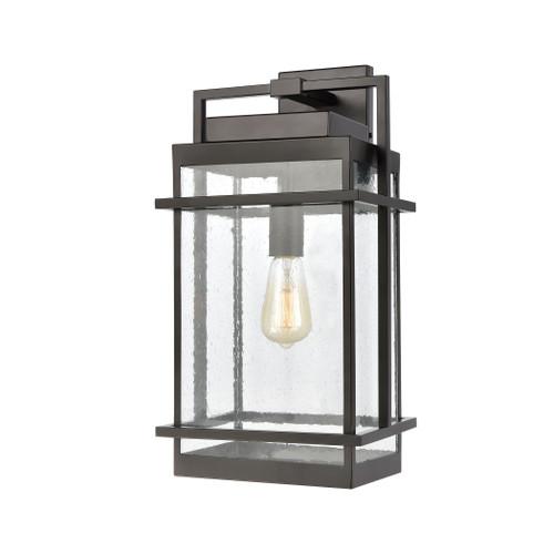 ELK Lighting 46762/1 Breckenridge 1-Light Sconce in Matte Black with Seedy Glass