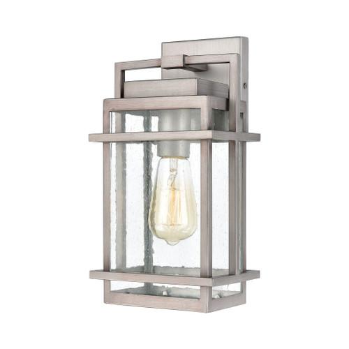 ELK Lighting 46770/1 Breckenridge 1-Light Sconce in Weathered Zinc with Seedy Glass