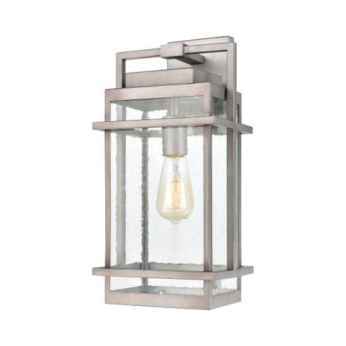 ELK Lighting 46771/1 Breckenridge 1-Light Sconce in Weathered Zinc with Seedy Glass