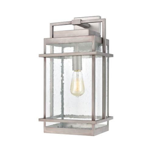 ELK Lighting 46772/1 Breckenridge 1-Light Sconce in Weathered Zinc with Seedy Glass