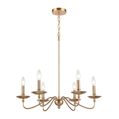 ELK Lighting 46796/6 Wellsley 6-Light Chandelier in Burnished Brass