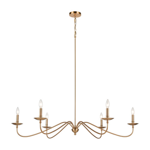 ELK Lighting 46799/6 Wellsley 6-Light Island Light in Burnished Brass