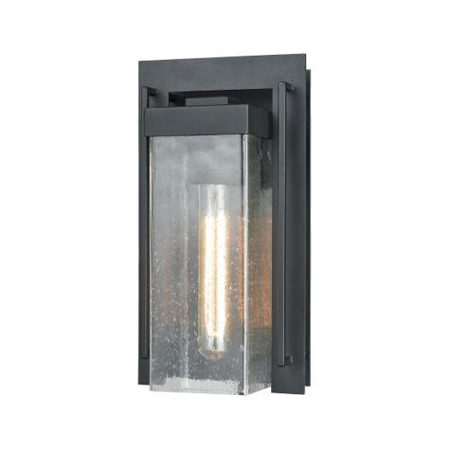 ELK Lighting 47500/1 Overton 1-Light Outdoor Sconce in Matte Black