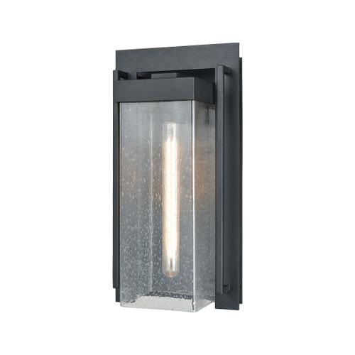 ELK Lighting 47502/1 Overton 1-Light Outdoor Sconce in Matte Black