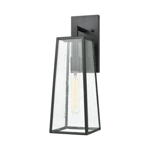 ELK Lighting 47520/1 Meditterano 1-Light Sconce in Matte Black with Seedy Glass
