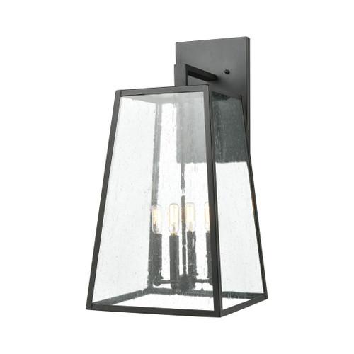 ELK Lighting 47523/4 Meditterano 4-Light Sconce in Matte Black with Seedy Glass