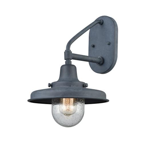 ELK Lighting 57162/1 Vinton Station 1-Light Outdoor Wall Lamp in Aged Zinc
