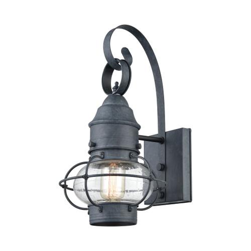 ELK Lighting 57170/1 Onion 1-Light Outdoor Wall Lamp in Aged Zinc