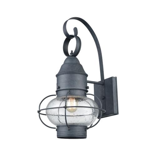 ELK Lighting 57171/1 Onion 1-Light Outdoor Wall Lantern in Aged Zinc