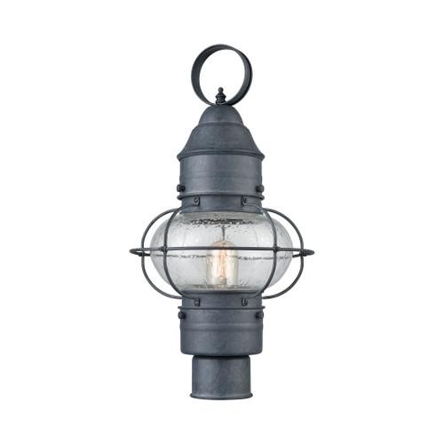 ELK Lighting 57172/1 Onion 1-Light Outdoor Post Mount in Aged Zinc