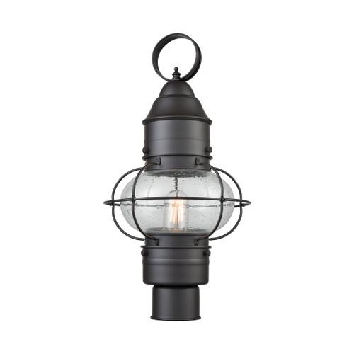 ELK Lighting 57182/1 Onion 1-Light Outdoor Post Mount in Oil Rubbed Bronze