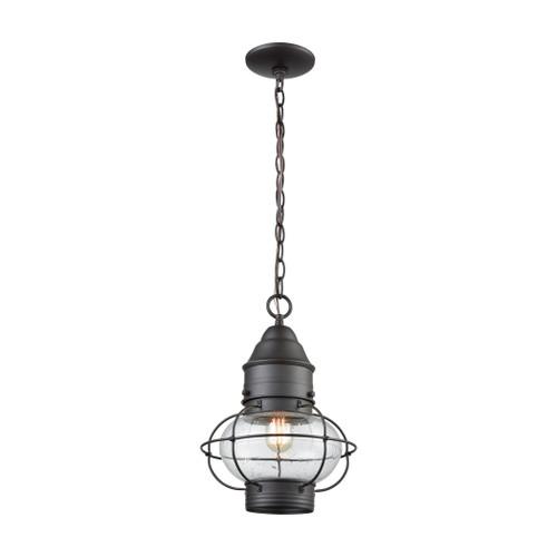 ELK Lighting 57183/1 Onion 1-Light Outdoor Pendant in Oil Rubbed Bronze