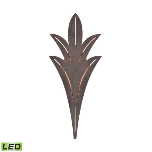 ELK Lighting 57190/LED Palm Fronds Sconce in Bronze Rust with Laser Cut Aluminum - Integrated LED