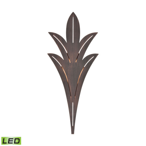 ELK Lighting 57191/LED Palm Fronds Sconce in Bronze Rust with Laser Cut Aluminum - Integrated LED
