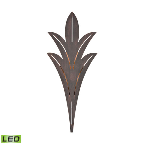 ELK Lighting 57192/LED Palm Fronds Sconce in Bronze Rust with Laser Cut Aluminum - Integrated LED