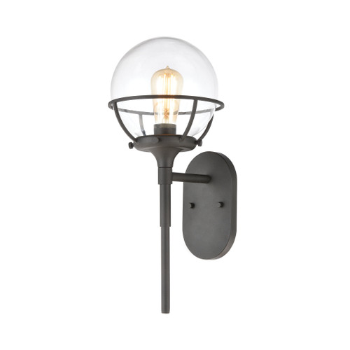 ELK Lighting 57289/1 Girard 1-Light Sconce in Charcoal with Clear Glass