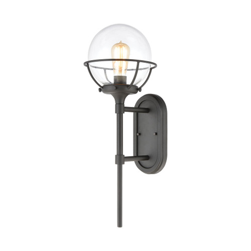 ELK Lighting 57290/1 Girard 1-Light Sconce in Charcoal with Clear Glass